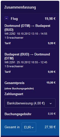 Billiger Flug nach Budapest