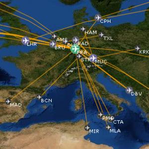 Openflights-Karte
