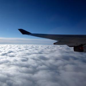 Foto aus dem Flugzeug