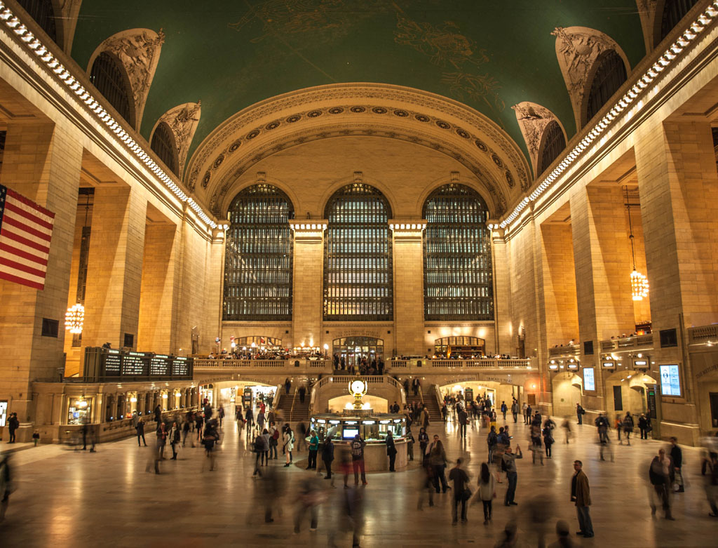abend in new york grand central station foto